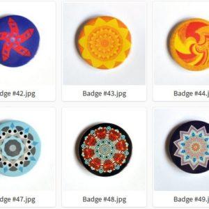 Badge ou Magnet – #41 à #50 par LOUIS 21