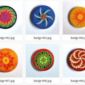 Badge ou Magnet – #61 à #70 par LOUIS 21