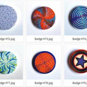 Badge ou Magnet – #71 à #80 par LOUIS 21